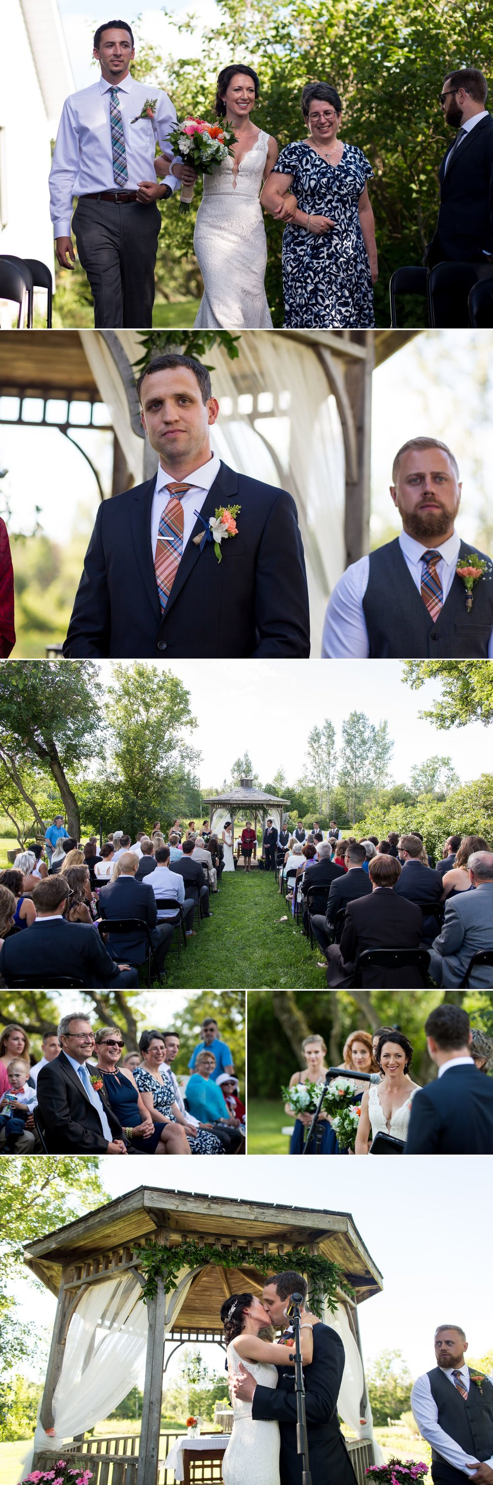 A wedding ceremony at The Herb Garden in Almonte Quebec
