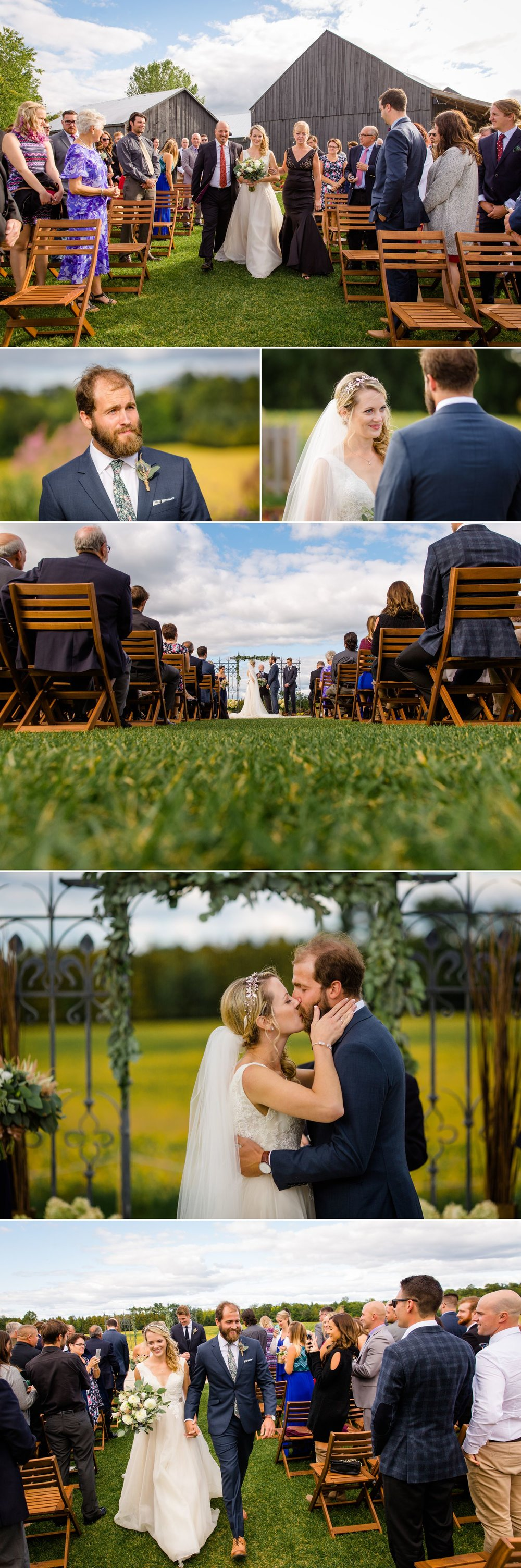 A wedding ceremony outside at Evermore
