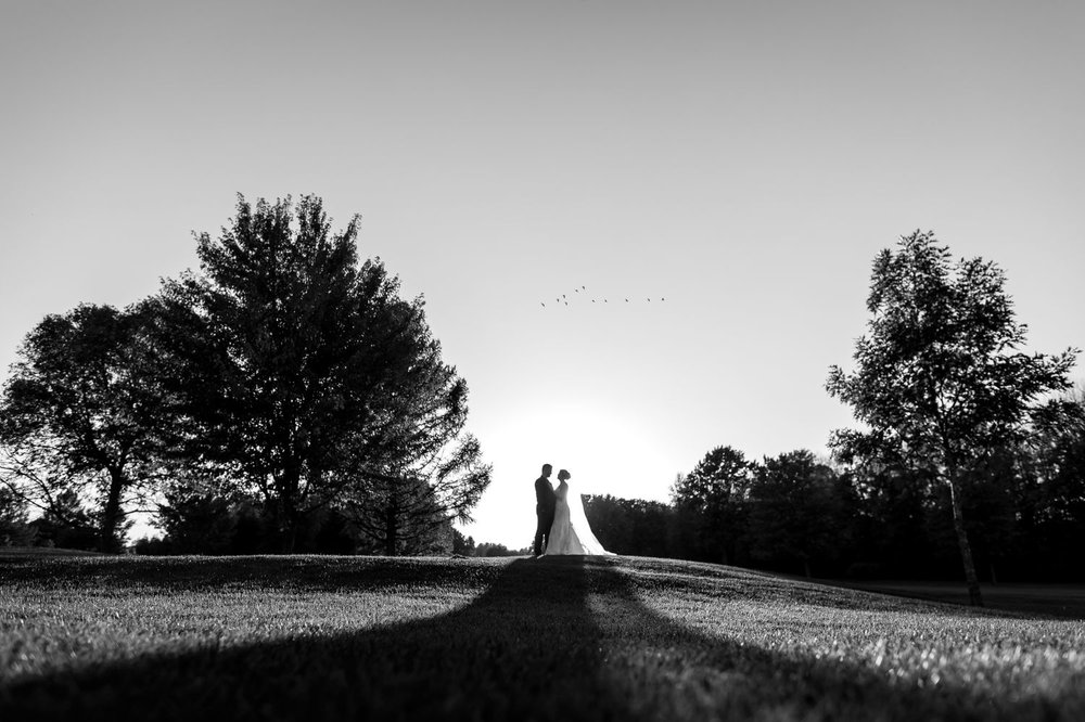 Portrait of the bride and groom on the Rideau View Golf Course