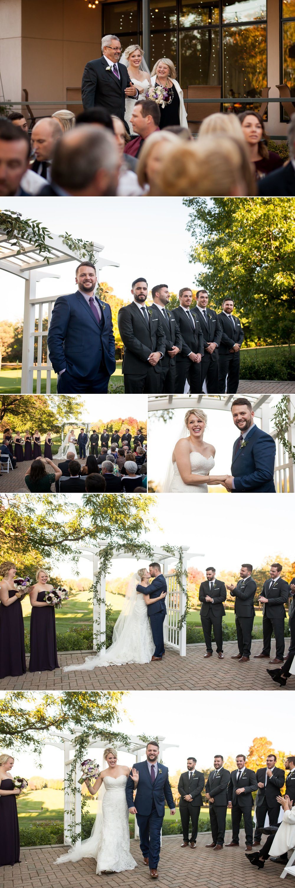 An outdoor wedding ceremony at Rideau View Golf Club