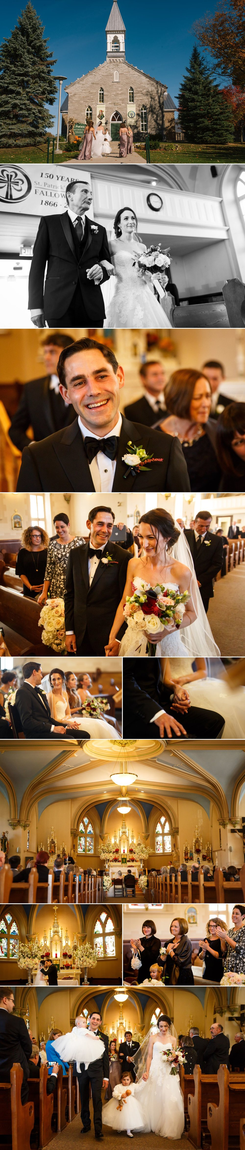 Wedding ceremony at St.Patrick's Church in Barrhaven Ontario