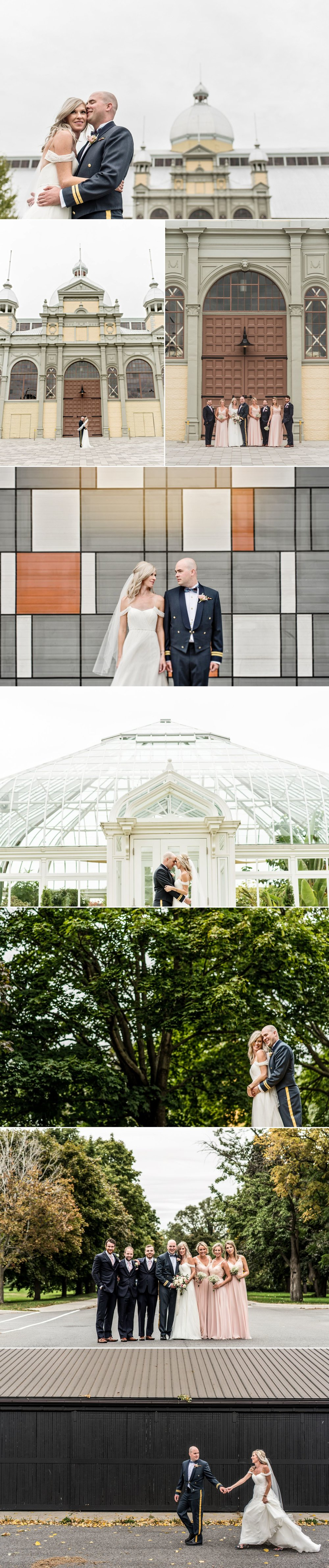 bride and groom wedding photos at lansdowne park ottawa ontario
