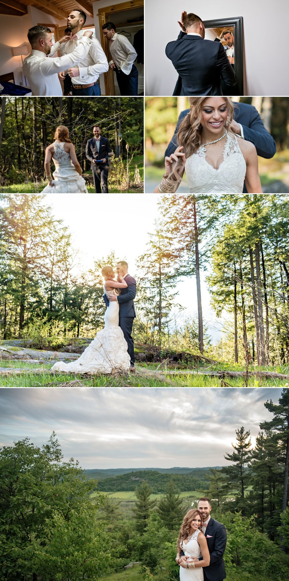 bride and groom nature portraits in wakefield at le belvederewedding
