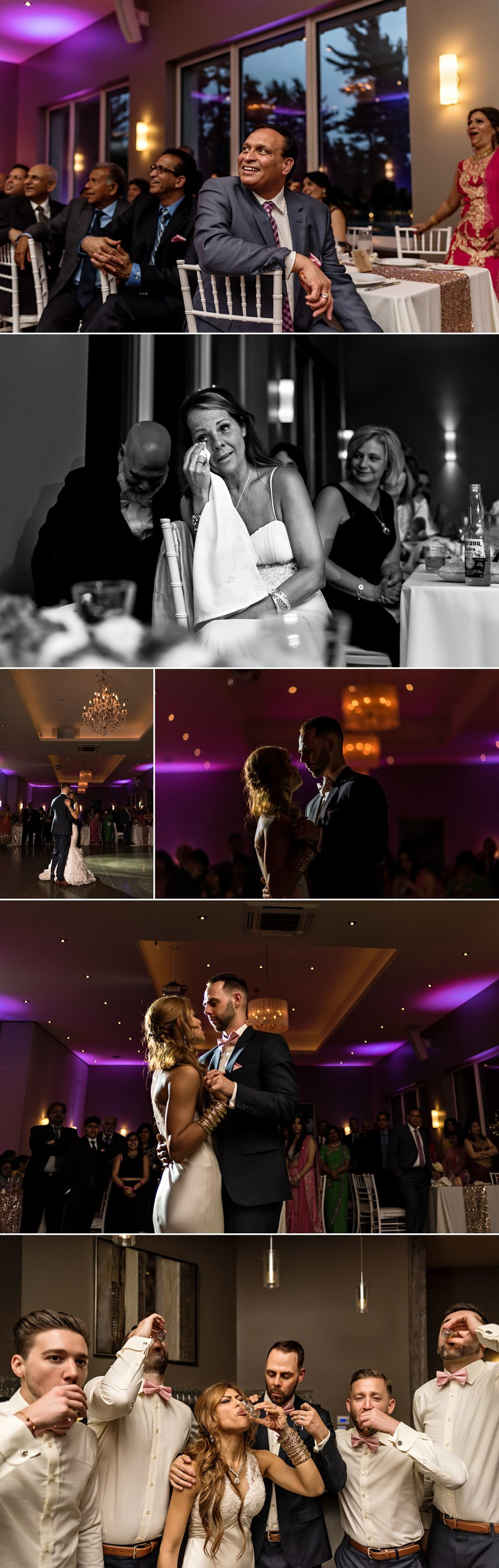 candid wedding reception moments in wakefield at le belvedere wedding