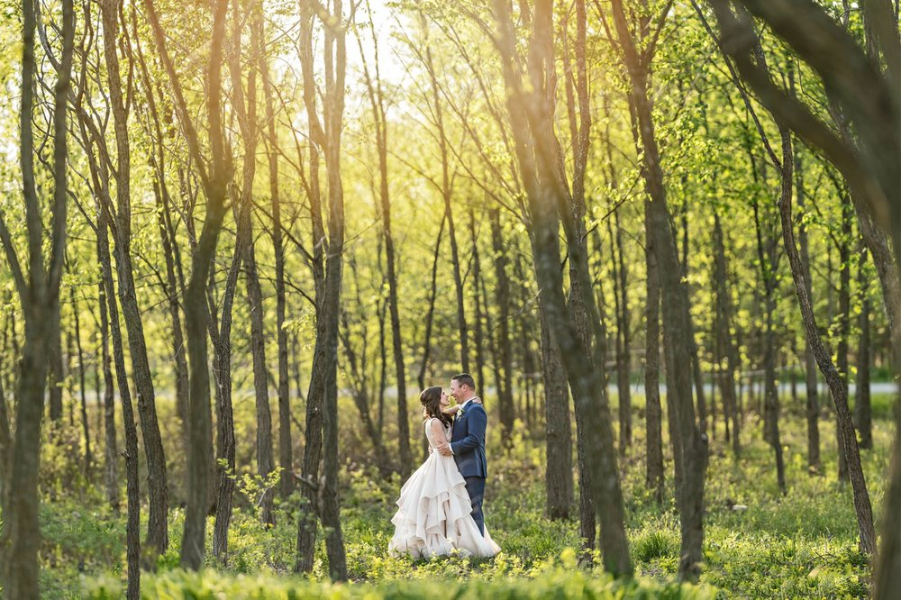 bride and groom sunset portrait stonefields carleton place ontario