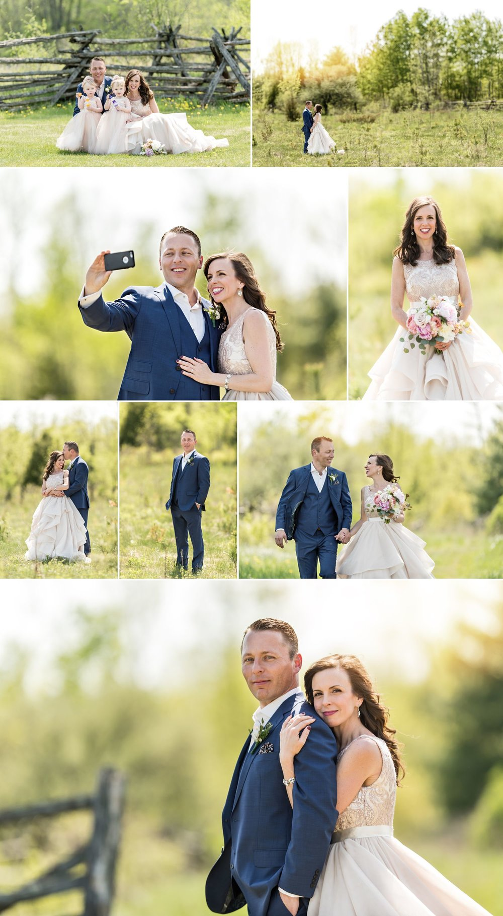 bride and groom portraits stonefields carleton place ontario