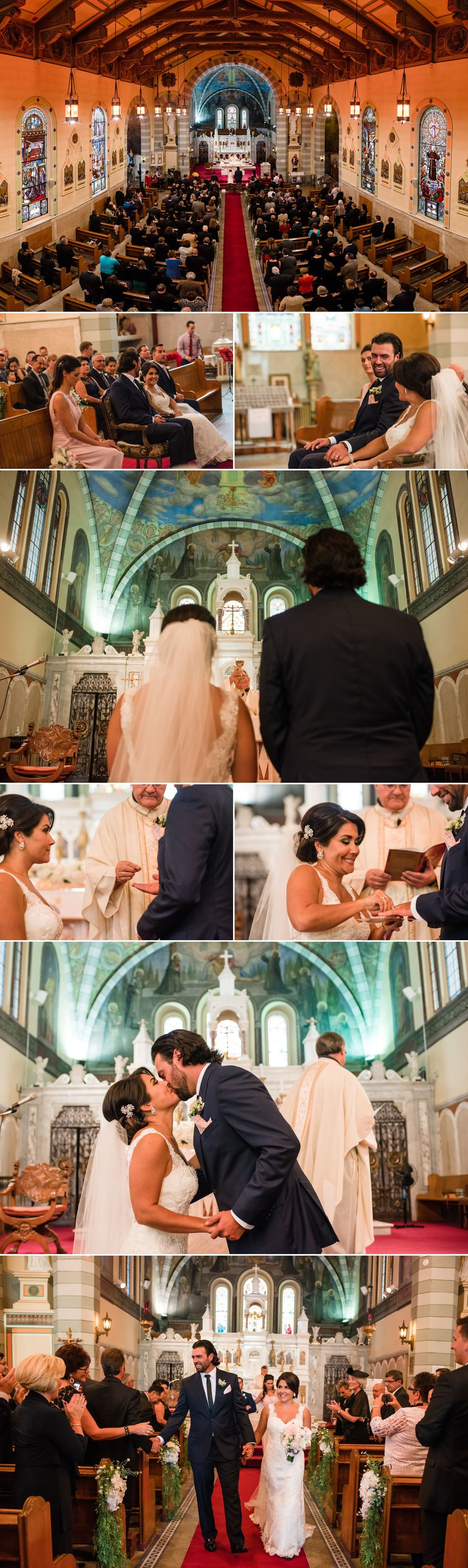 A wedding ceremony at St.Anthony's Church in Little Italy, Ottawa.