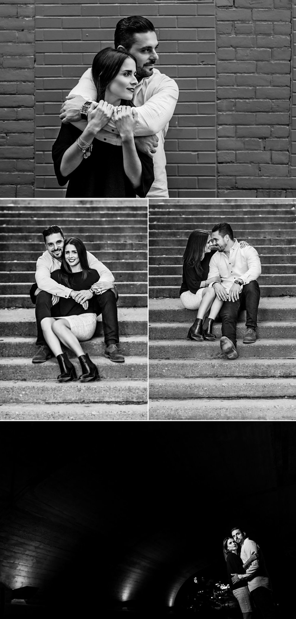 Portraits for a couple's engagement taken in Ottawa's Centretown