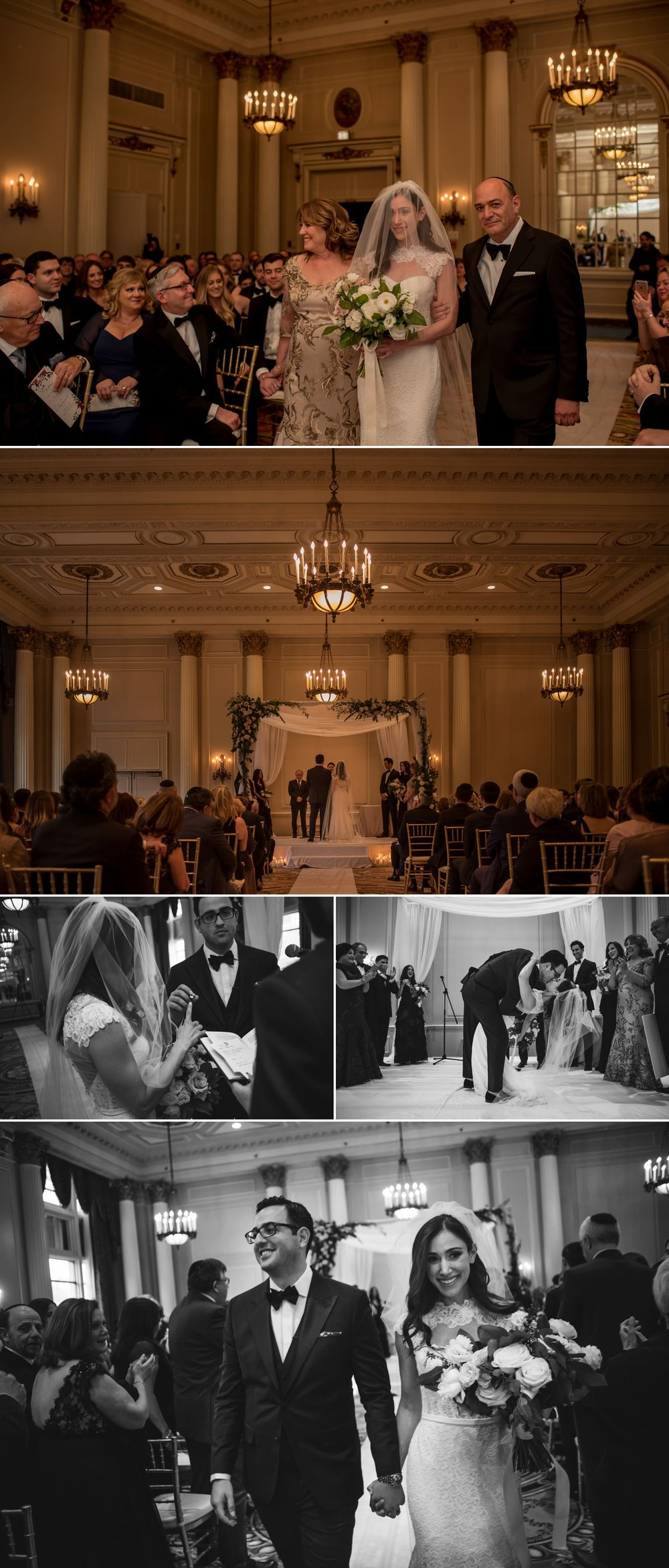 candid moments during a jewish wedding ceremony at the chateau laurier in ottawa ontario