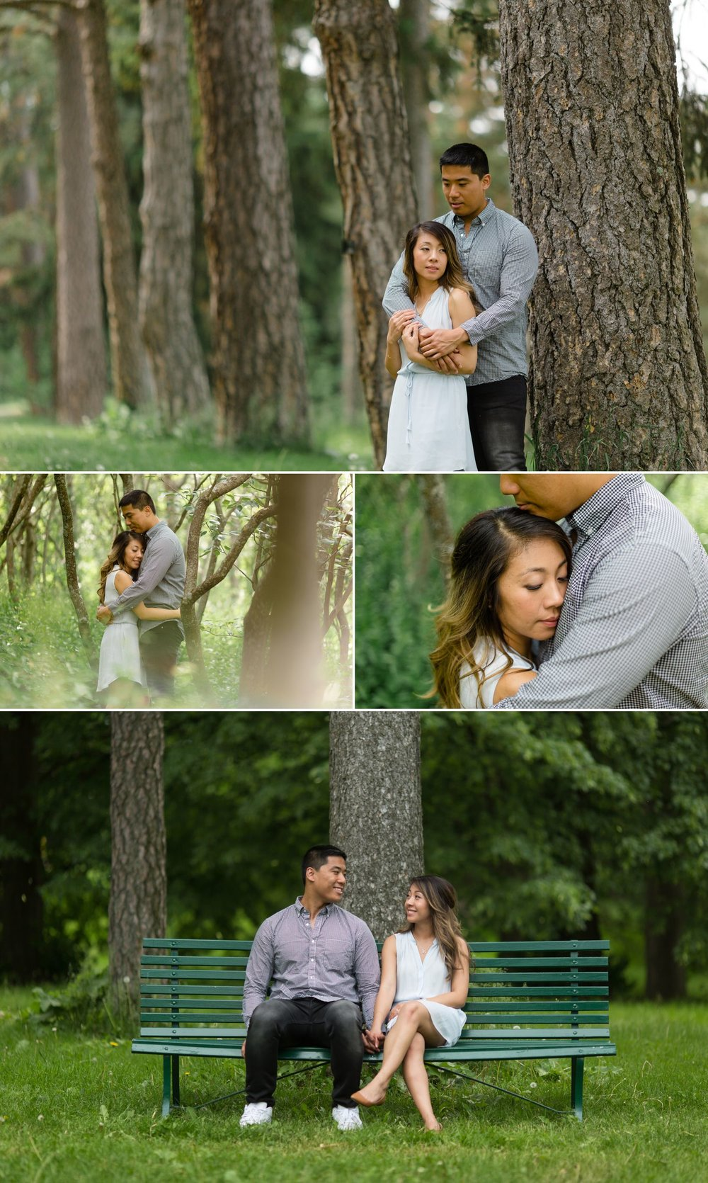 Engagement portraits taken at the Arboretum in Ottawa, ON