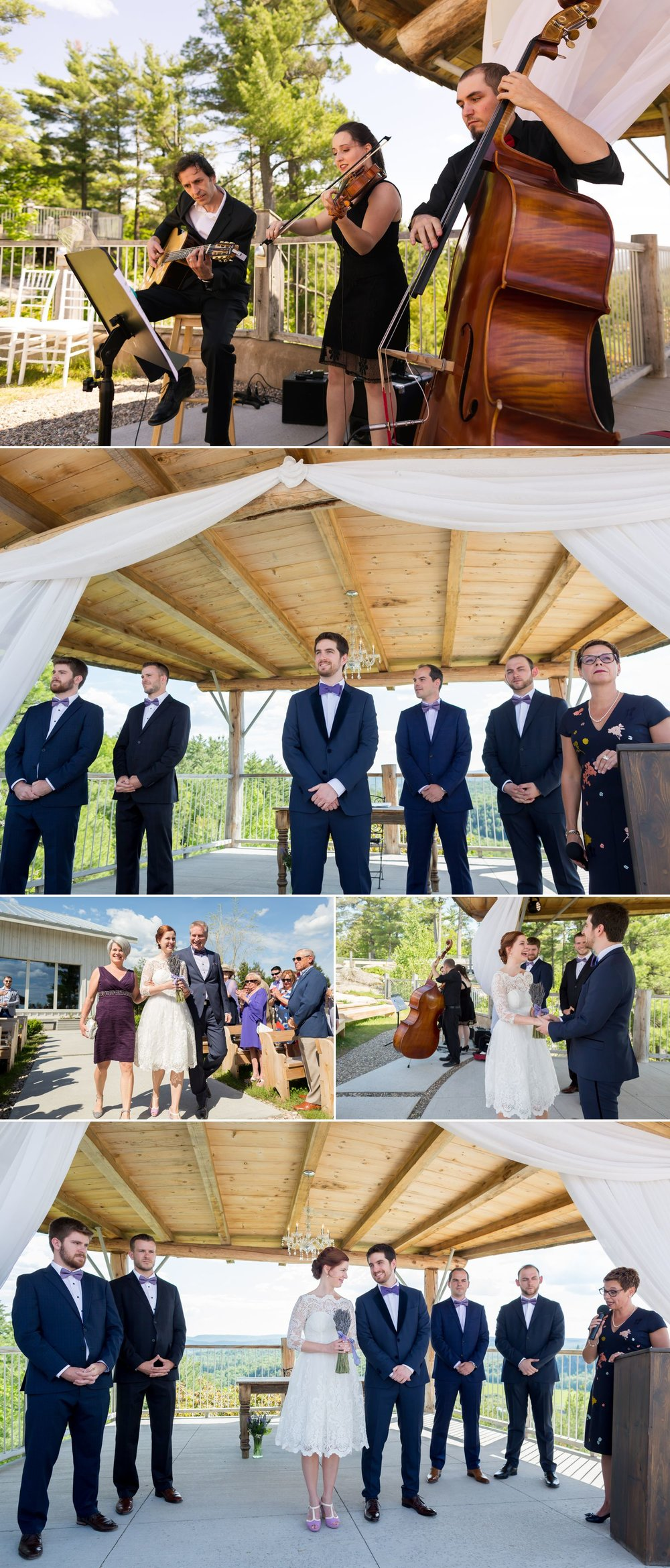 An outdoor summer wedding at Le Belvedere in Wakefield, Quebec