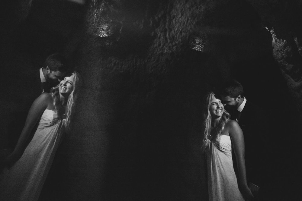 A night time portrait of the bride and groom inside The Museum of Nature in downtown Ottawa