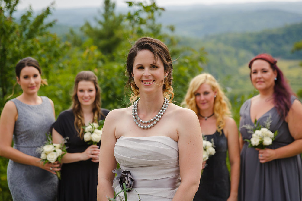 photograph of a bride and her bridesmaids