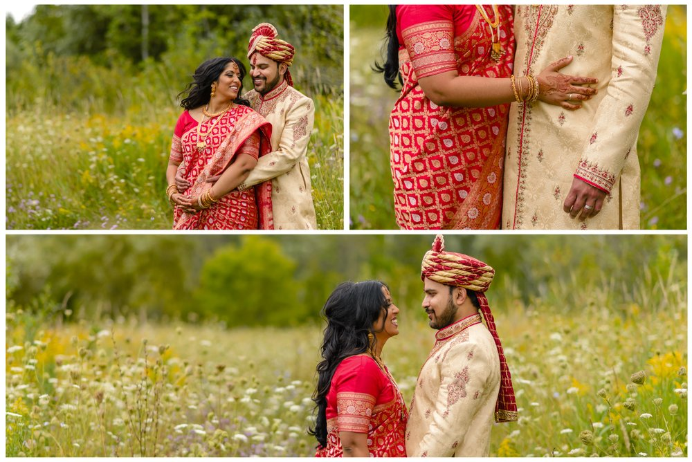 Portrait photographs of an Indian couple