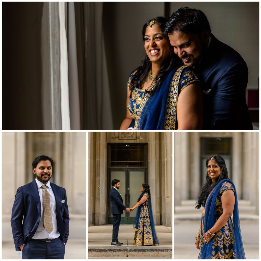 Portraits of an Indian couple getting married in Ottawa