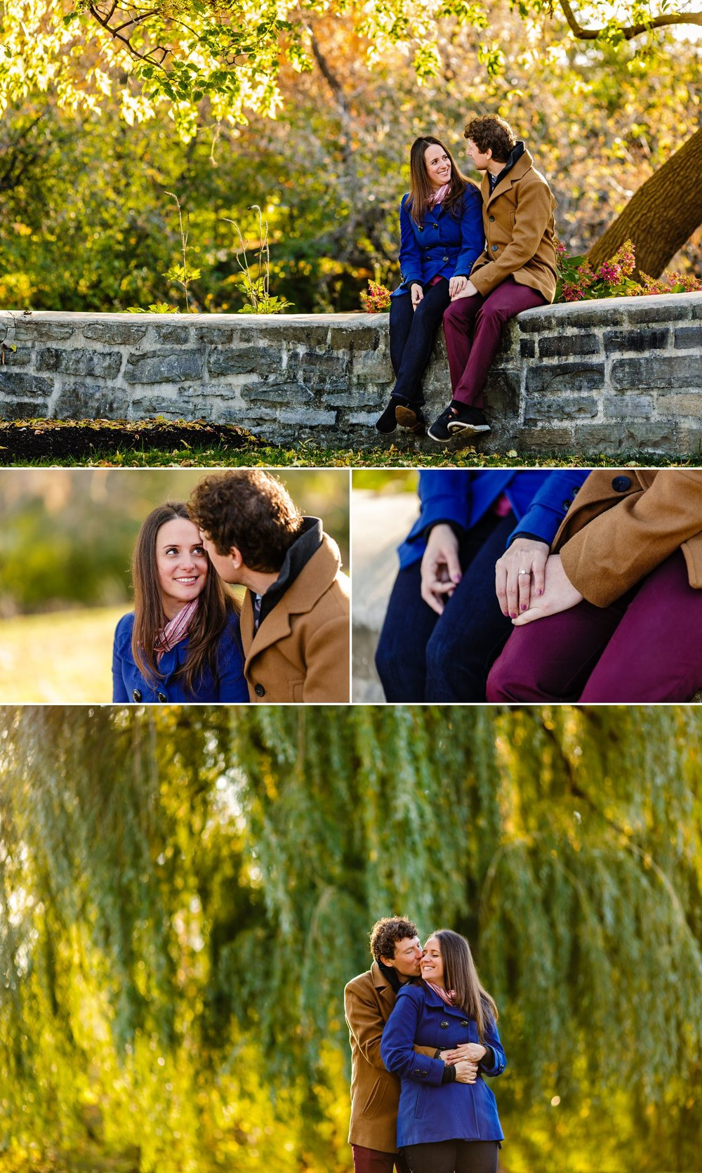 Couples portraits taken outside in the park in Gatineau Quebec