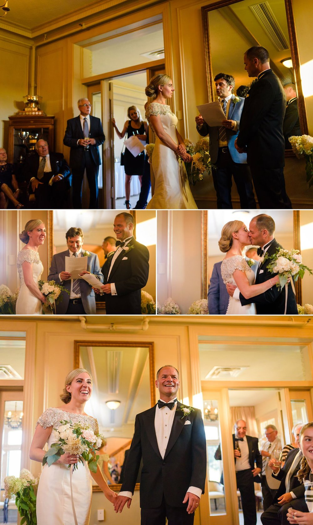 photographs of an indoor wedding at the royal ottawa golf club