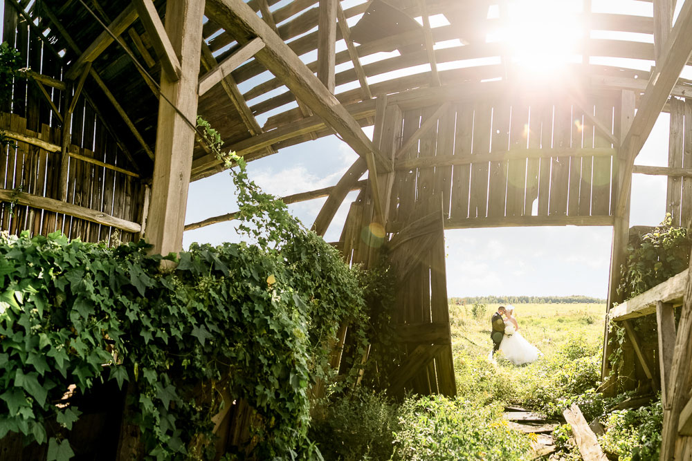 rustic and green wedding photo