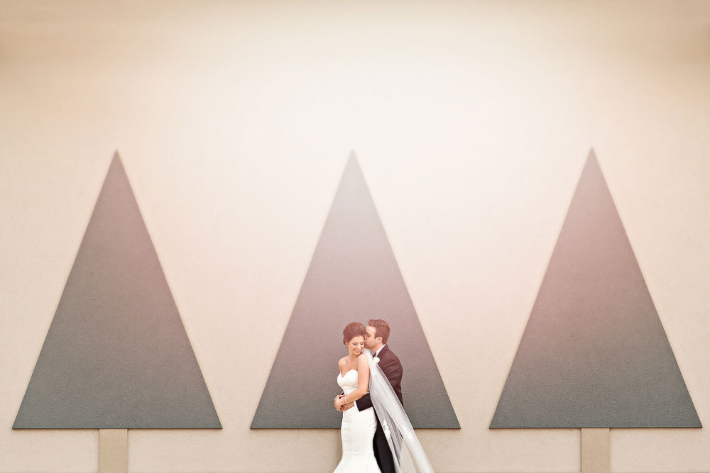 soft and pretty wedding photo of a bride and groom