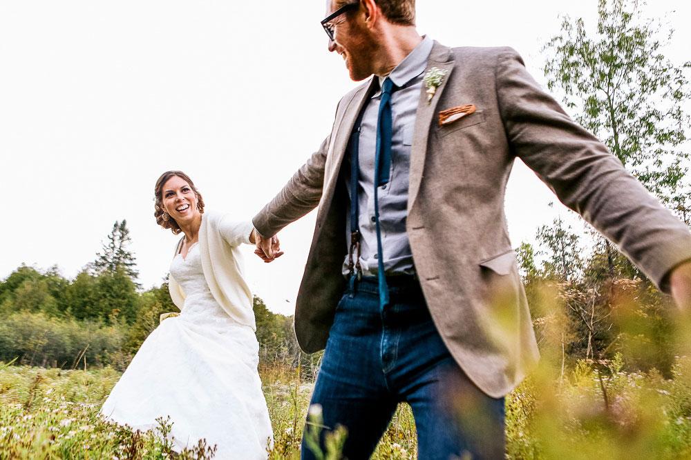 happy bright wedding photograph