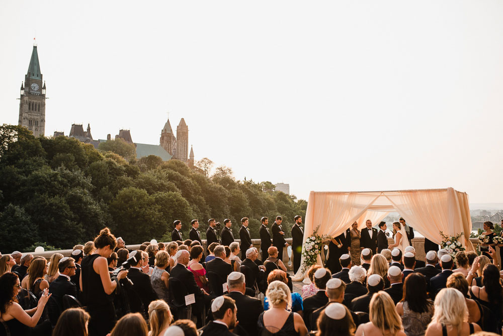wedding ceremony in downtown Ottawa at the Chateau Laurier