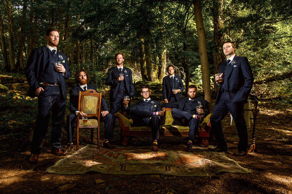 dramatic groomsmen photograph