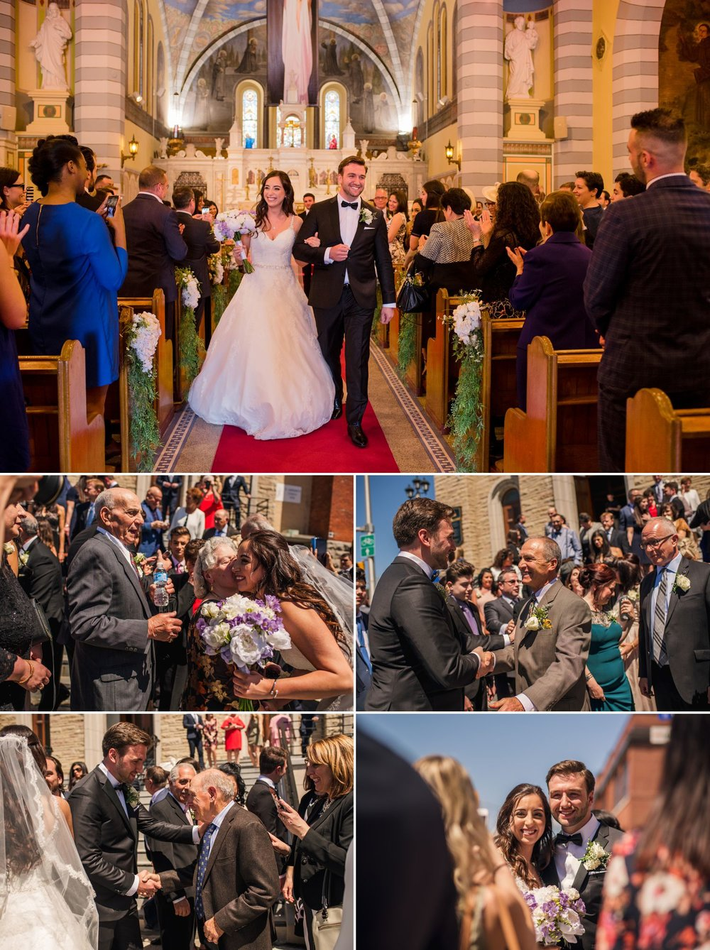 A wedding ceremony at St.Anthonys church in Little Italy in Ottawa, ON