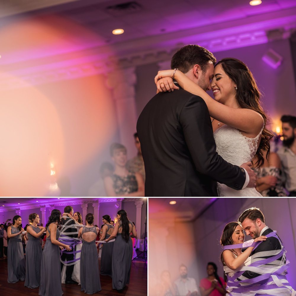 The couples first dance and ribbon dance during their wedding reception at Sala San Marco in Little Italy, Ottawa ON