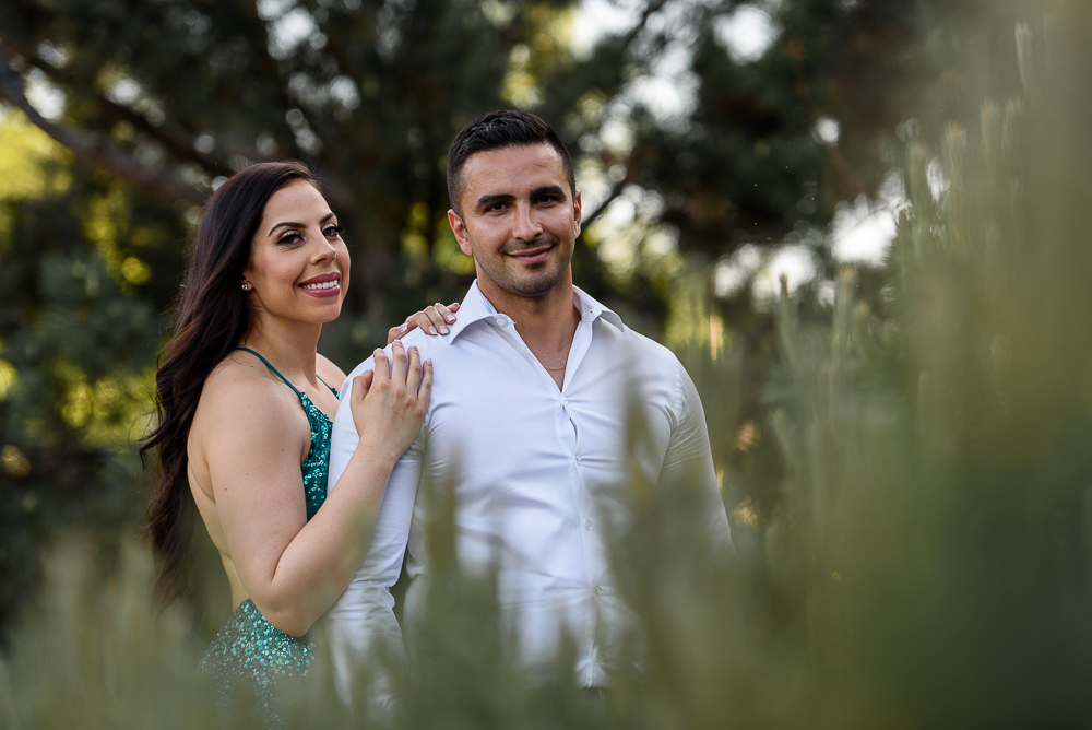 light airy engagement photograph