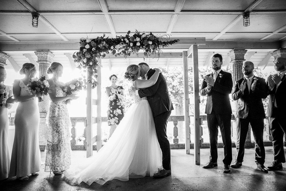 first kiss under the rockcliffe park pavillion