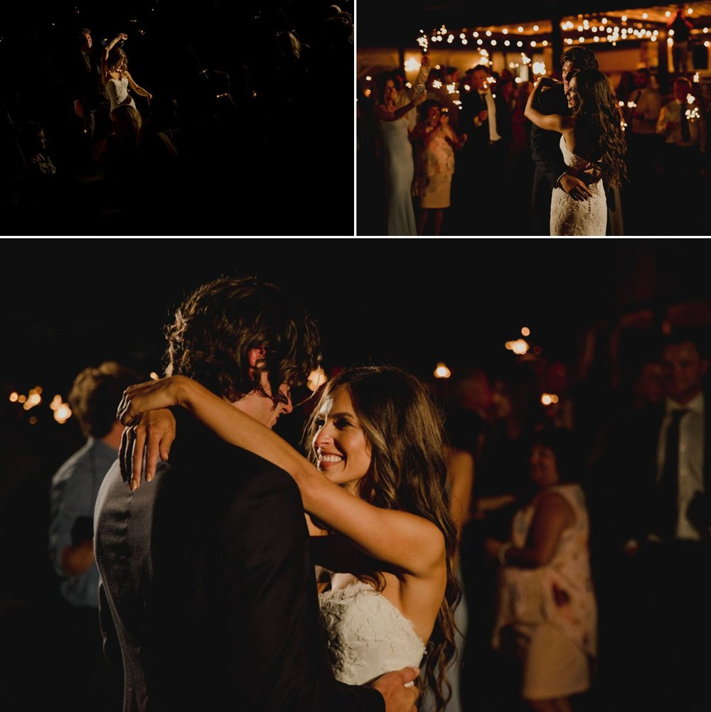 The bride and groom during their first dance at their wedding reception at the Ravine Vineyard Estate Winery in Niagara-on-the-Lake