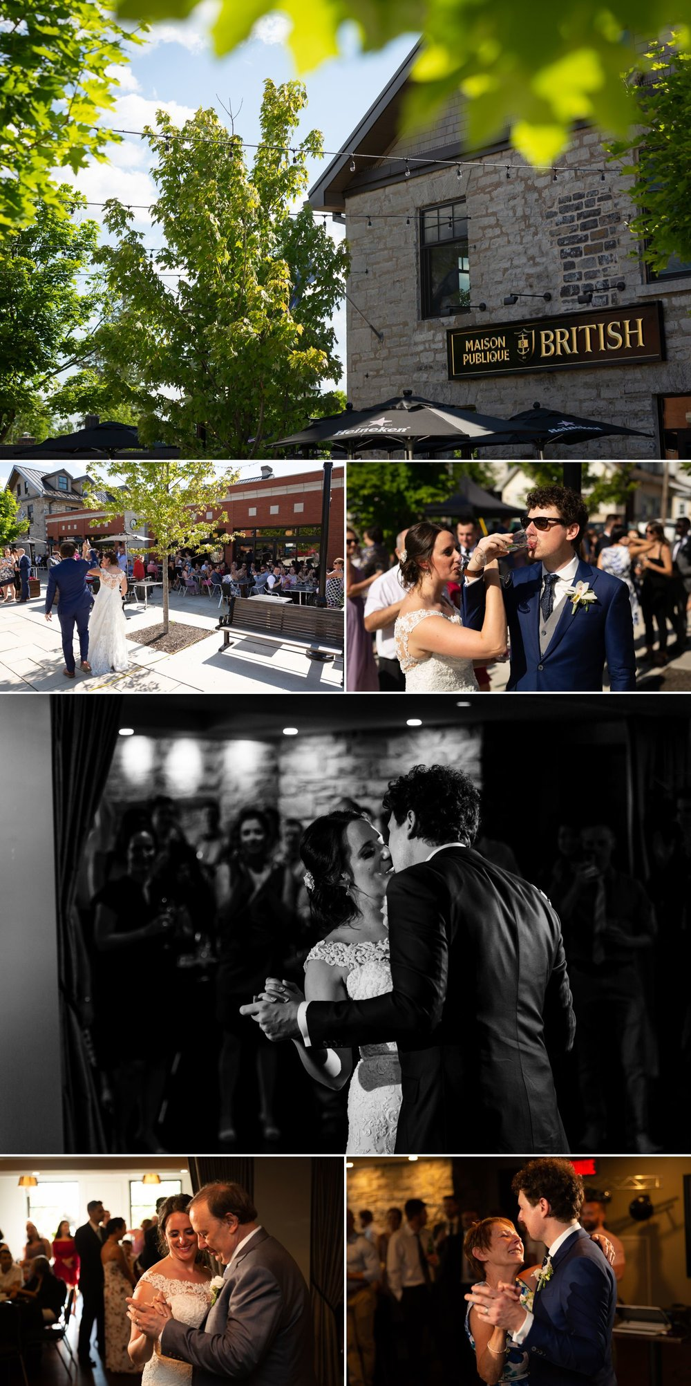 A wedding reception taking place at The British Hotel in Gatineau, Quebec