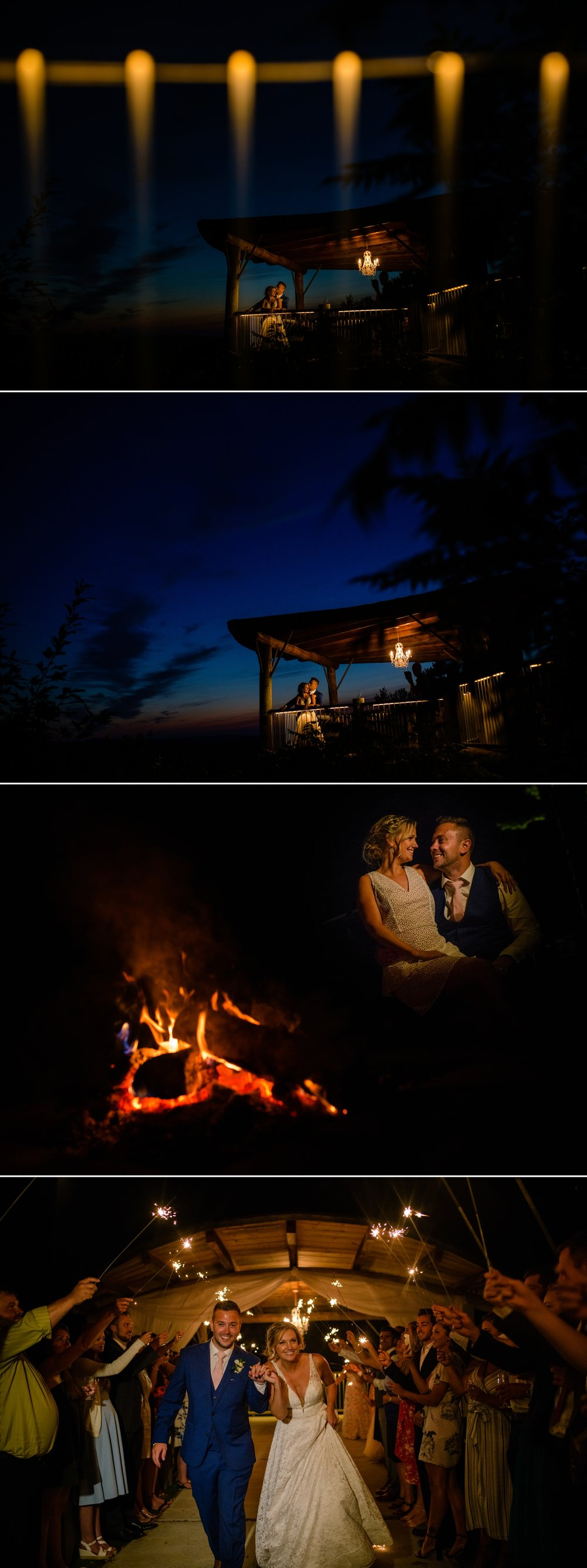 bride and groom nightime portraits at a le belevedere wedding in wakefield quebec
