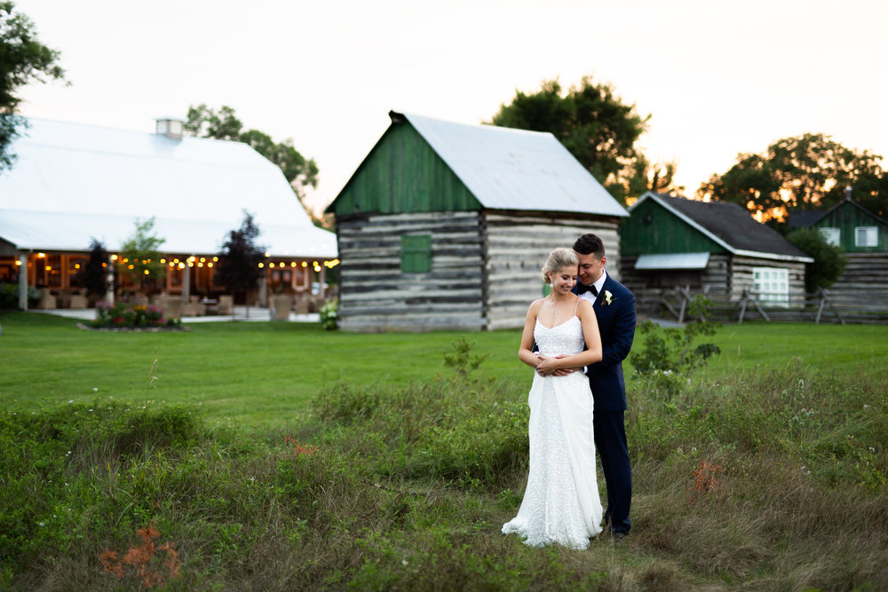 Bride and groom getting married at Stonefields Estate