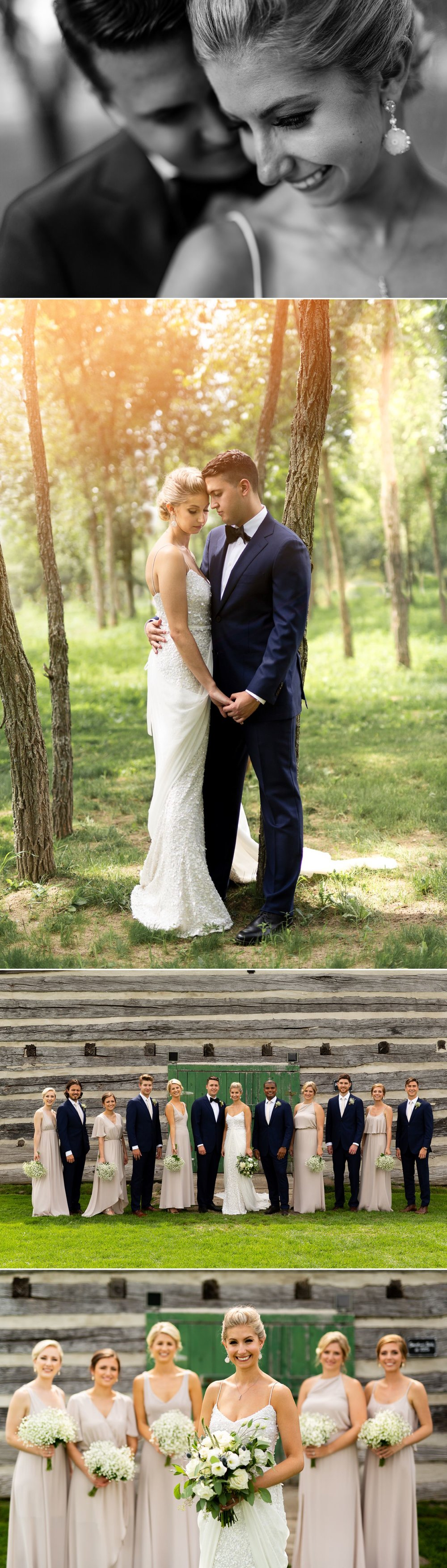 Portraits of the bride and groom before their ceremony at Stonefields Estate