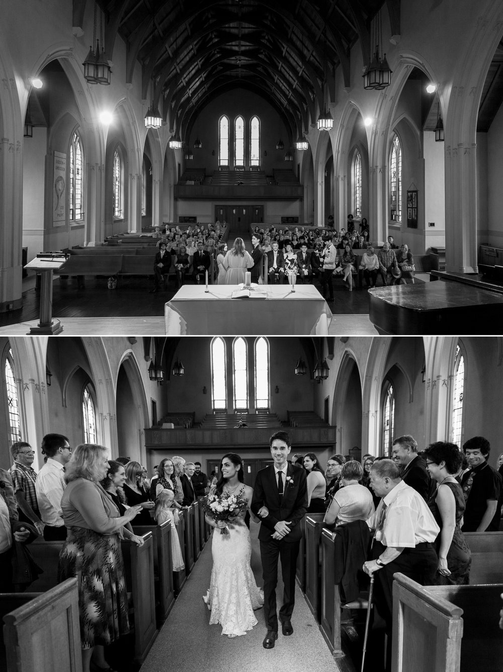 Wedding photographs from South Minster Church