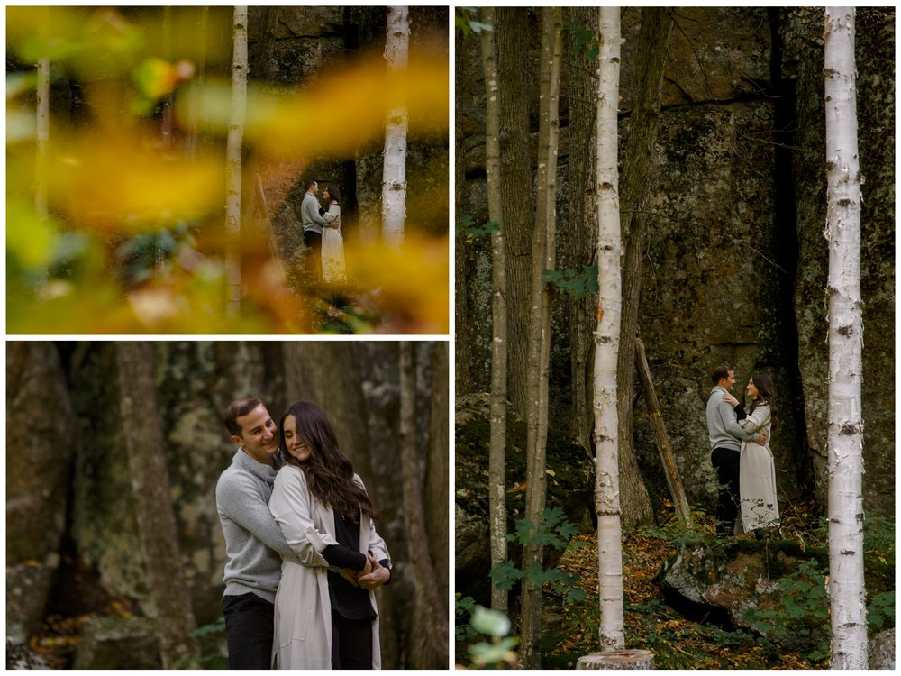 Photographs form an autumn engagement shoot in ottawa