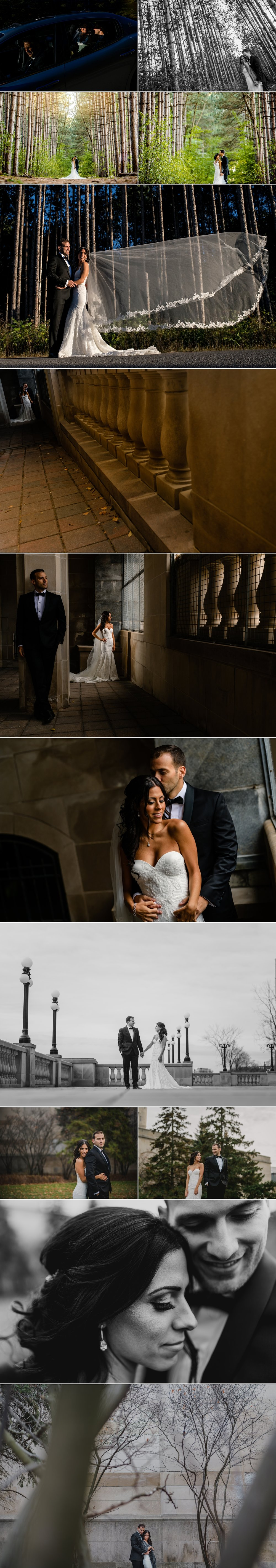 bride and groom portraits at lebanese wedding in ottawa