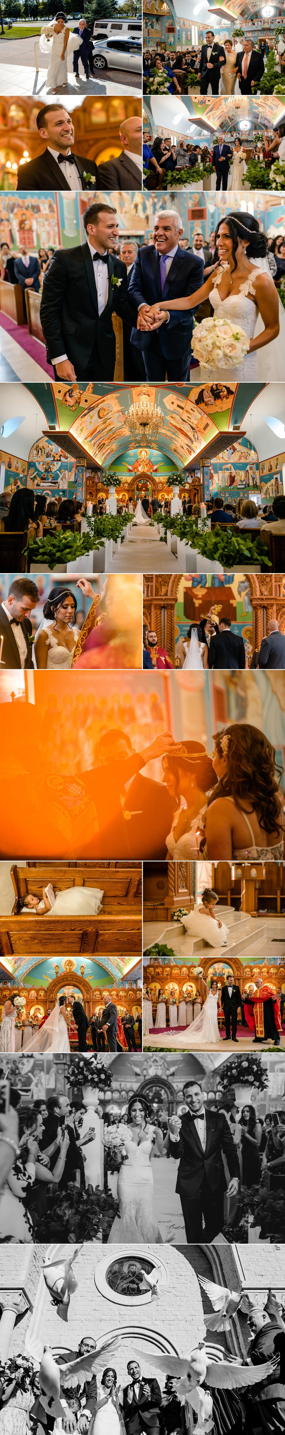 candid moments during a lebanese wedding ceremony at st elias cathedral in ottawa