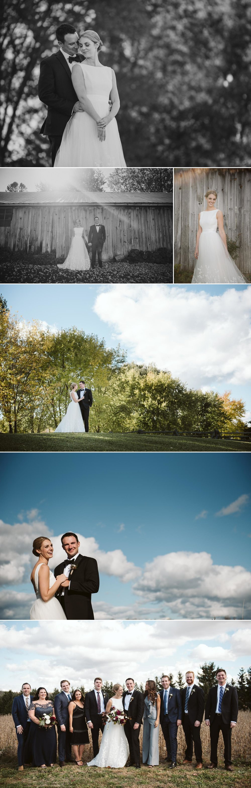 photos of a bride and groom at evermore events in almonte ontario