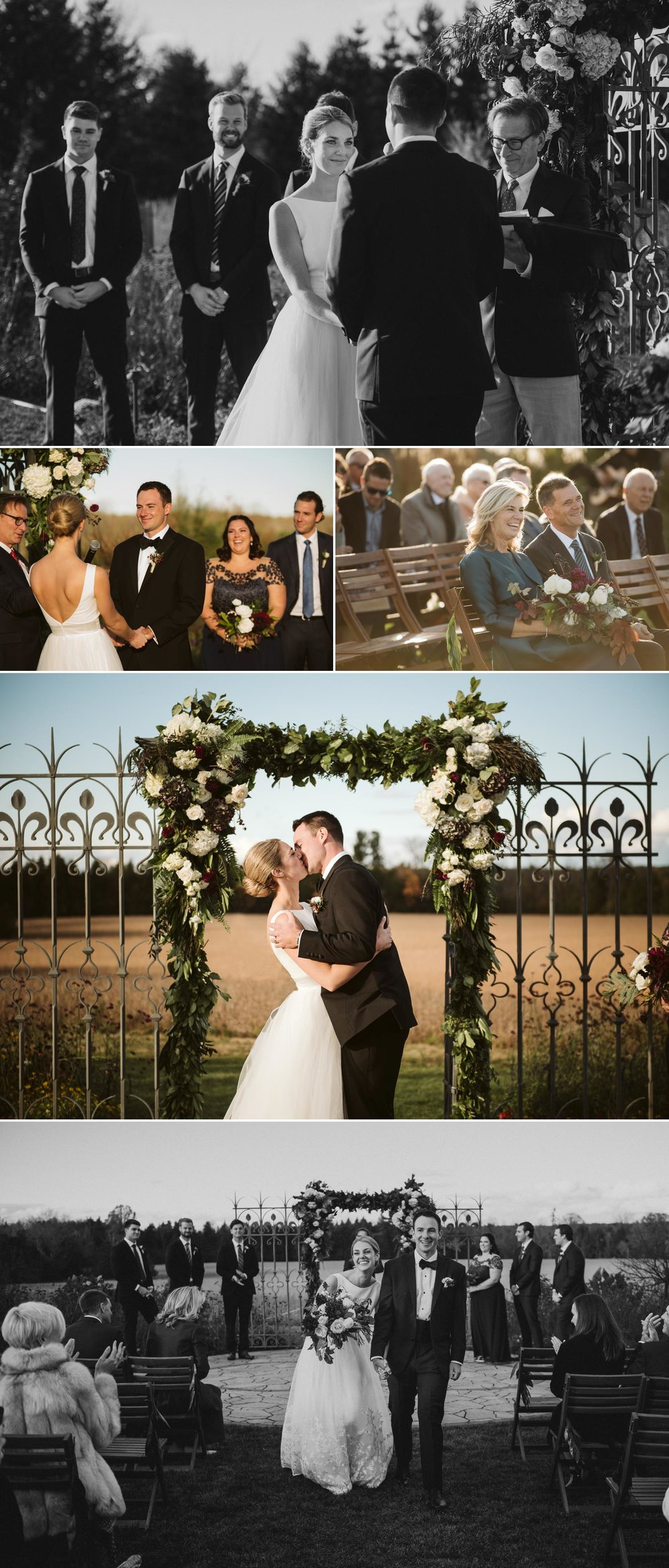 Wedding ceremony photos at evermore events
