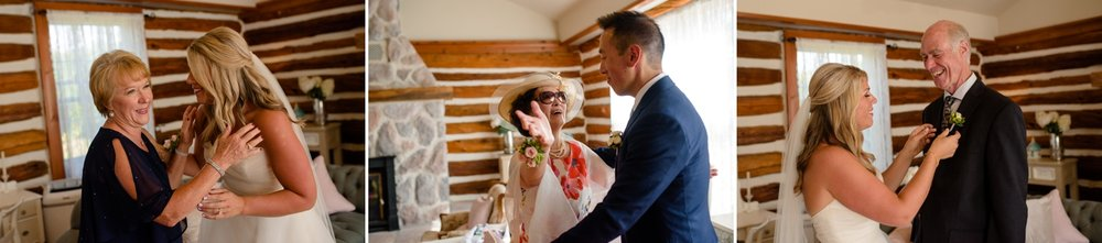 candid moments with parents before their stonefields wedding ceremony in carelton place ontario