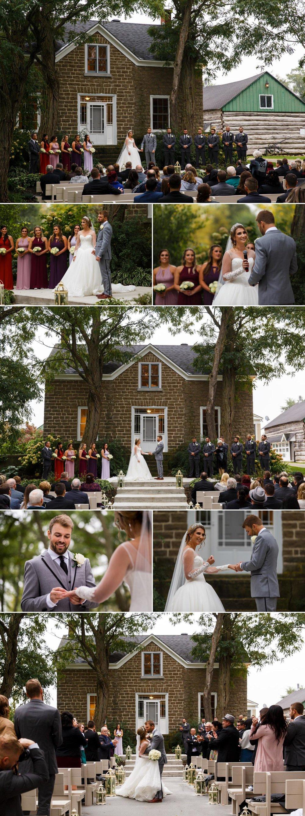 photos of an autumn wedding at stonefields in ottawa