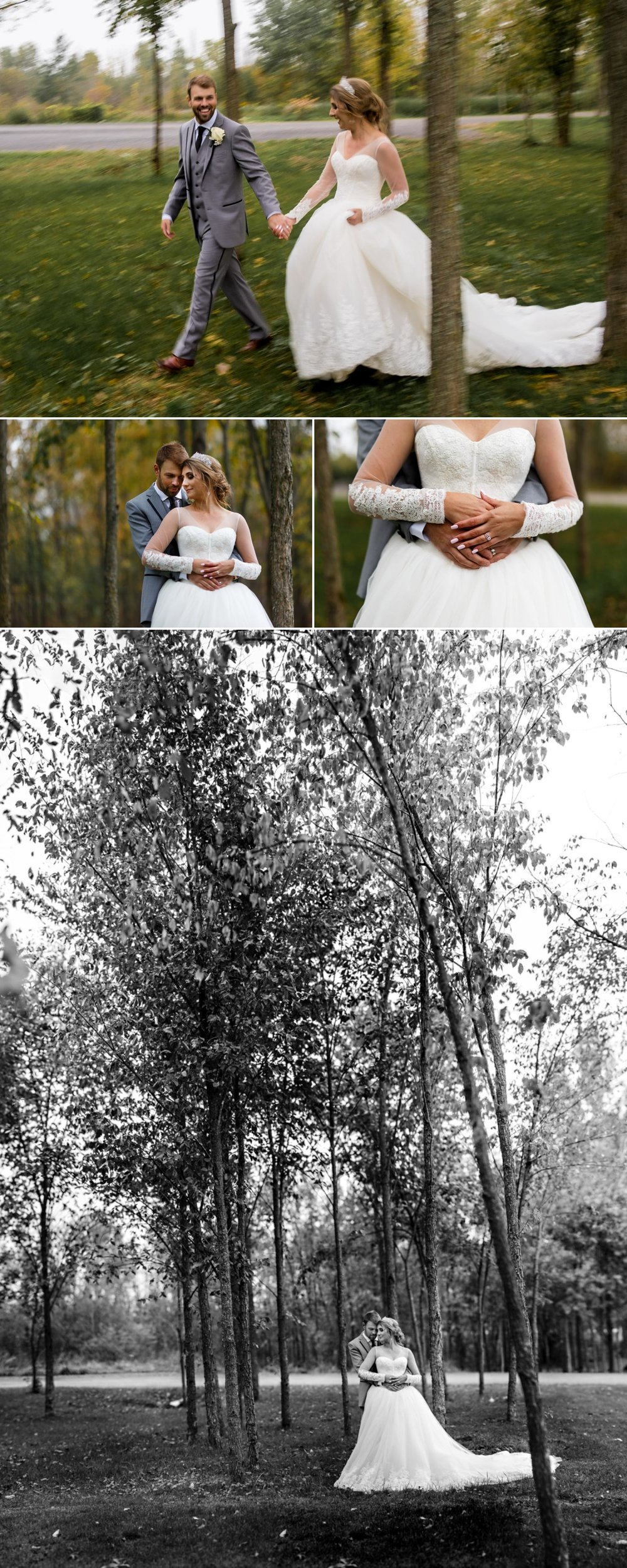 photographs of a bride and groom at stonefields estate