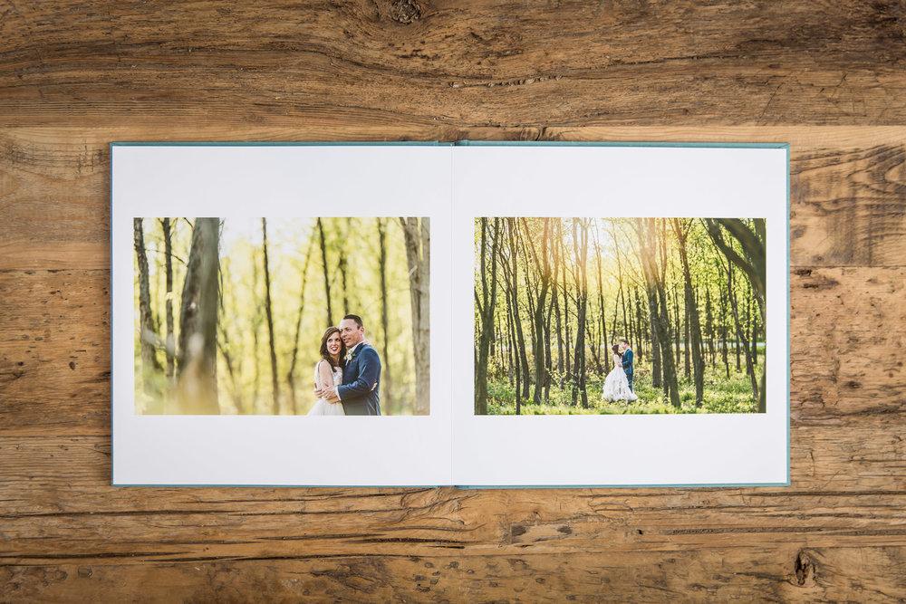 Sample wedding album photograph