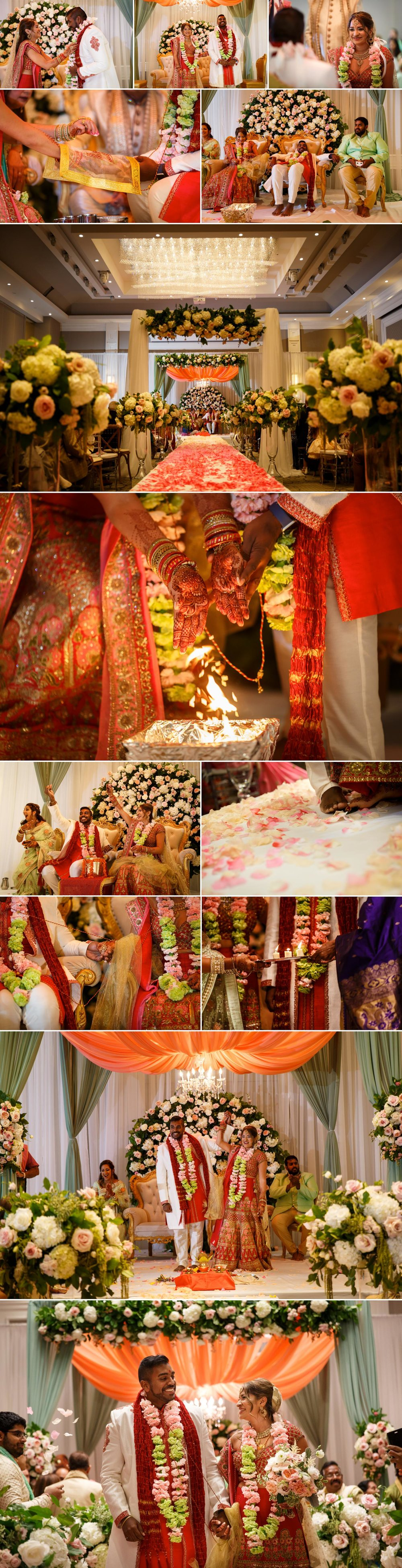 photos of an indian wedding ceremony at the infinity centre in ottawa