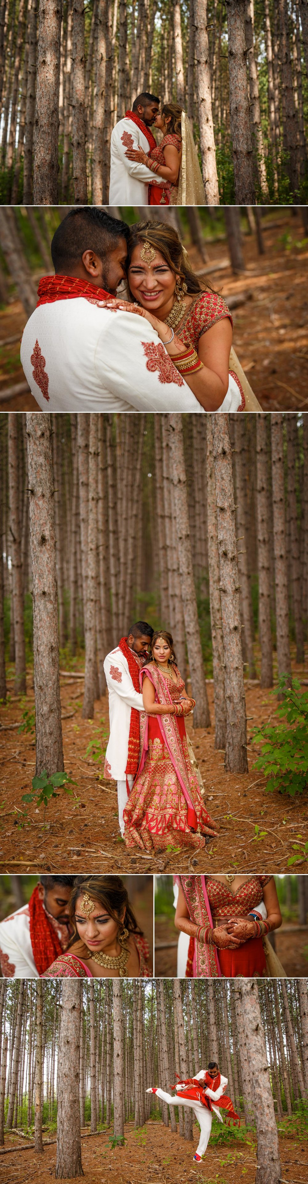 photos of an indian bride and groom
