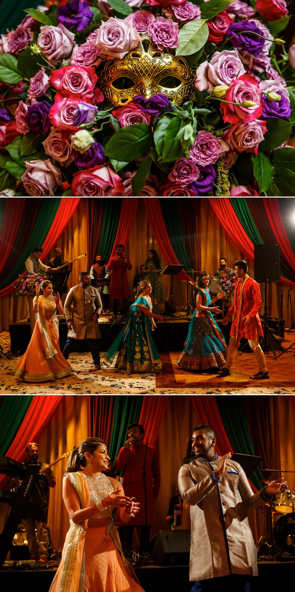 photos from a sangeet or musical party at an indian wedding in ottawa