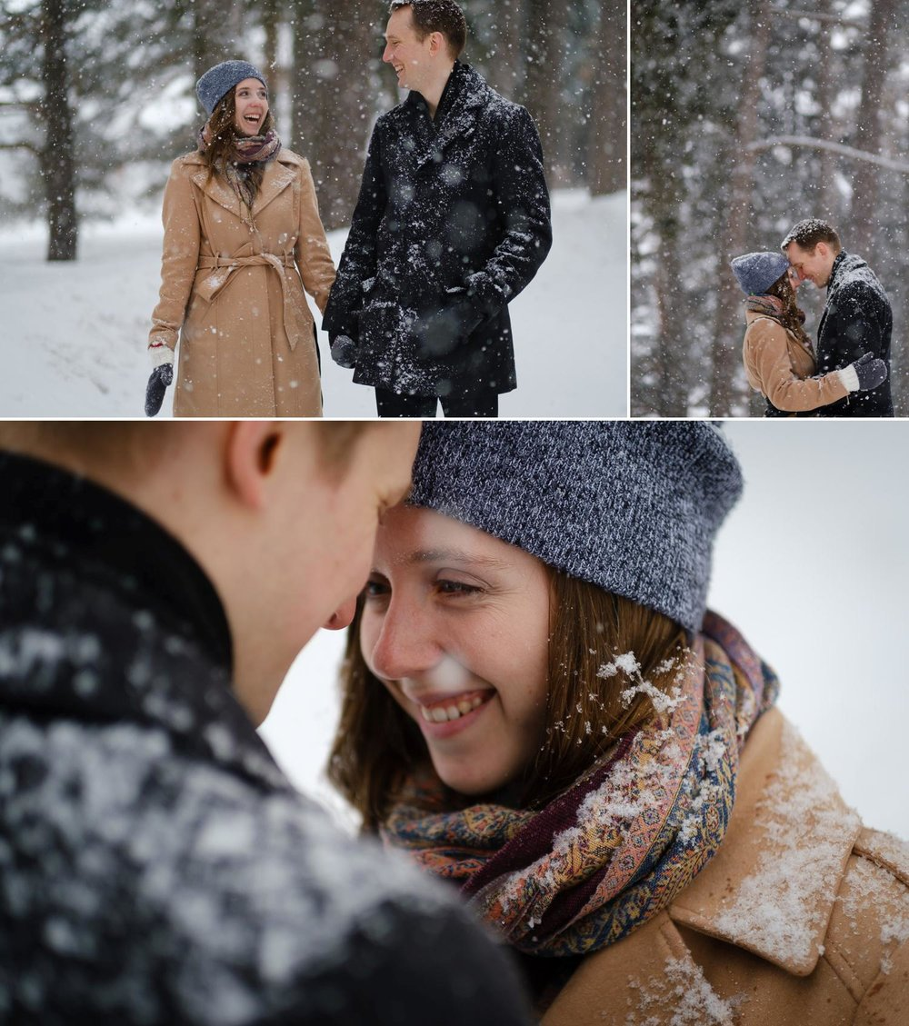 photographs of a happy couple at the ottawa engagement shoot