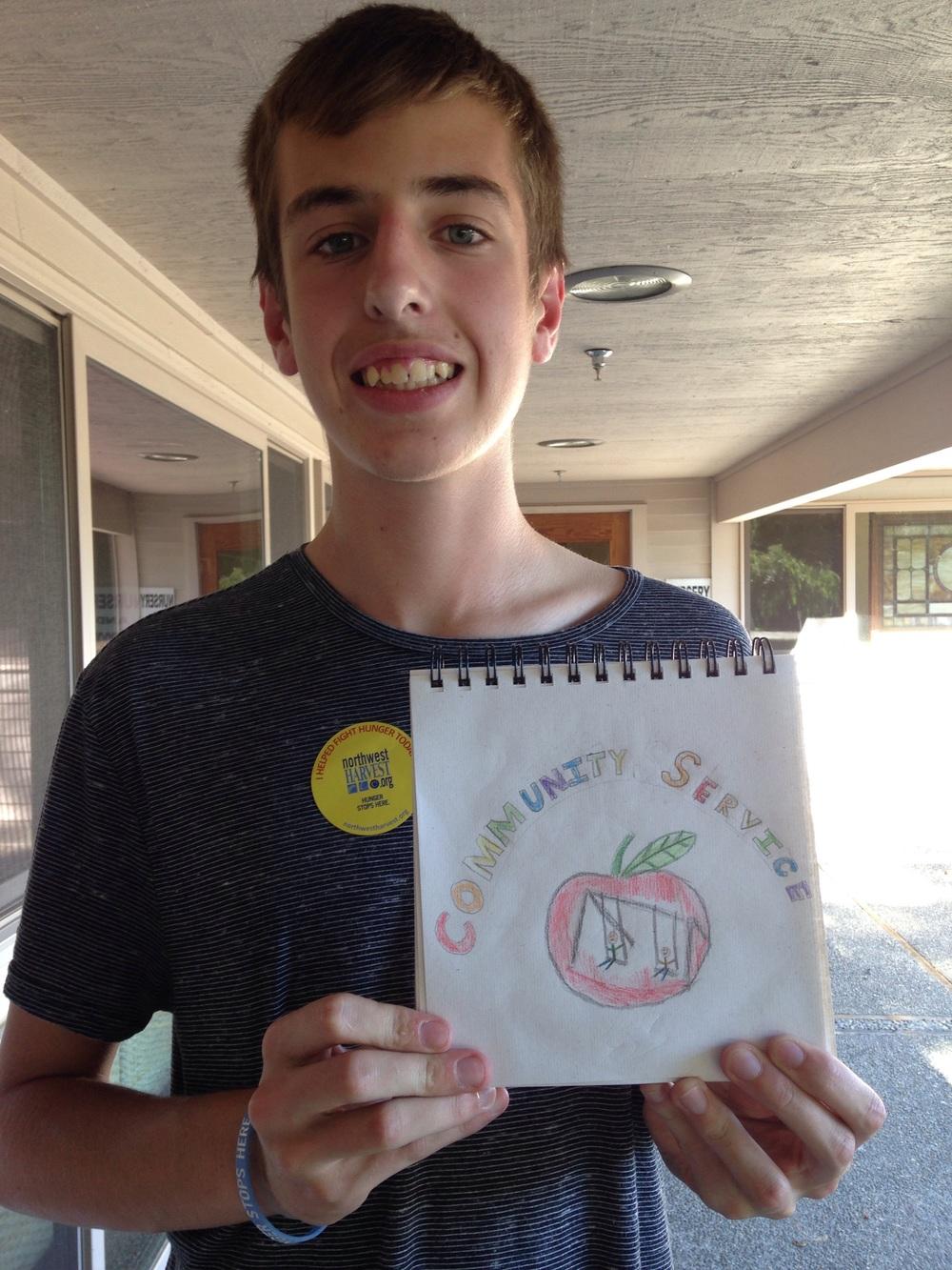 """Spencer Nordmann, sophomore. """"Community service"""""""
